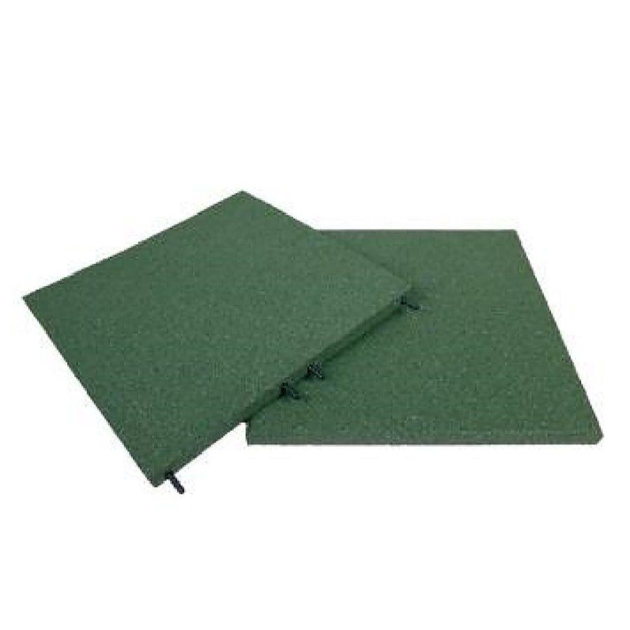 Zelená gumová dlaždice (V30/R00) - délka 100 cm, šířka 100 cm a výška 3 cm FLOMAT