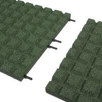 Zelená gumová dlaždice (V40/R15) - délka 100 cm, šířka 100 cm a výška 4 cm