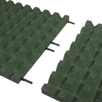 Zelená gumová dlaždice (V40/R28) - délka 50 cm, šířka 50 cm a výška 4 cm