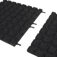 Černá gumová dlaždice (V30/R15) - délka 100 cm, šířka 100 cm a výška 3 cm