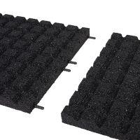 Černá gumová dlaždice (V45/R15) - délka 50 cm, šířka 50 cm a výška 4,5 cm