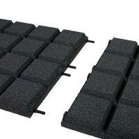 Černá gumová dlaždice (V45/R25BIG) - délka 50 cm, šířka 50 cm a výška 4,5 cm