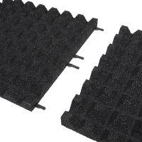 Černá gumová dlaždice (V45/R28) - délka 50 cm, šířka 50 cm a výška 4,5 cm