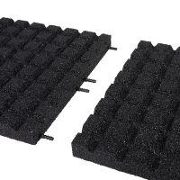Černá gumová dlaždice (V50/R15) - délka 100 cm, šířka 100 cm a výška 5 cm