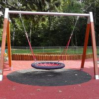 Červená gumová dlaždice (V45/R28) - délka 100 cm, šířka 100 cm a výška 4,5 cm FLOMAT