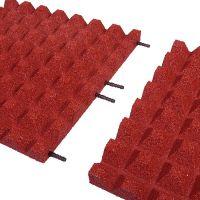 Červená gumová dlaždice (V45/R28) - délka 100 cm, šířka 100 cm a výška 4,5 cm