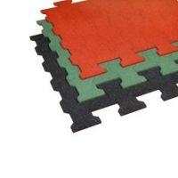 Červená gumová zámková dlažba ZD1/15 - délka 112 cm, šířka 100 cm a výška 1,5 cm