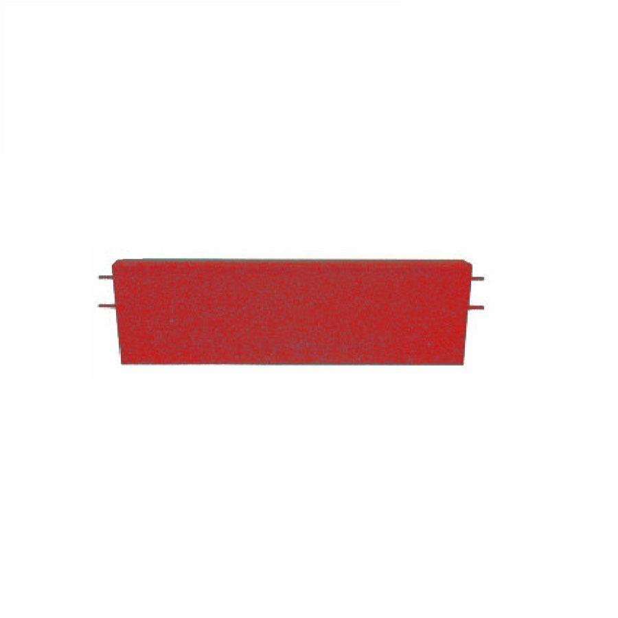 Červený rovný nájezd pro gumové dlaždice - délka 75 cm, šířka 30 cm a výška 4 cm FLOMAT