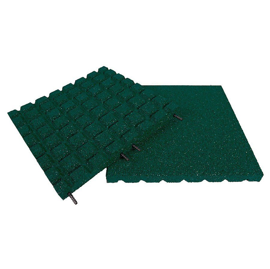 Zelená gumová dlaždice (V30/R18) - délka 50 cm, šířka 50 cm a výška 3 cm FLOMAT