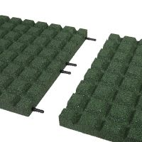 Zelená gumová dlaždice (V45/R15) - délka 100 cm, šířka 100 cm a výška 4,5 cm