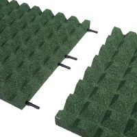Zelená gumová dlaždice (V45/R28) - délka 100 cm, šířka 100 cm a výška 4,5 cm