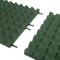 Zelená gumová dlaždice (V45/R28) - délka 50 cm, šířka 50 cm a výška 4,5 cm
