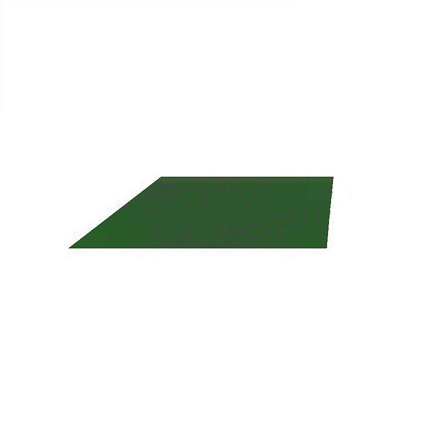 Zelený pravý nájezd (roh) pro gumové dlaždice - délka 75 cm, šířka 30 cm a výška 2 cm FLOMAT
