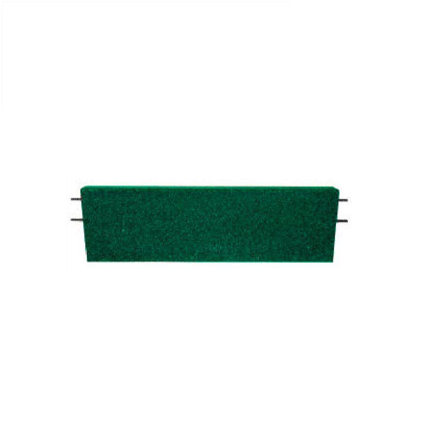 Zelený rovný nájezd pro gumové dlaždice - délka 75 cm, šířka 30 cm a výška 3 cm FLOMAT