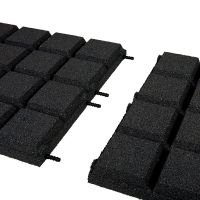 Černá gumová dlaždice (V50/R25BIG) - délka 50 cm, šířka 50 cm a výška 5 cm