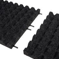 Černá gumová dlaždice (V50/R28) - délka 50 cm, šířka 50 cm a výška 5 cm