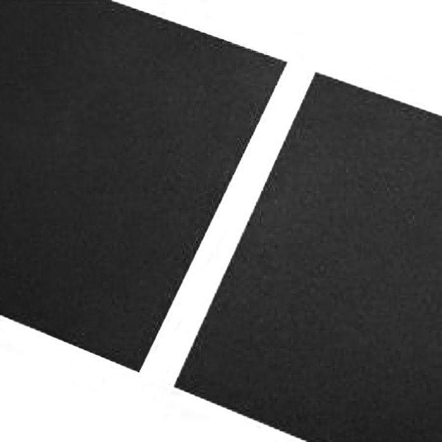 Černá gumová hladká dlaždice - délka 200 cm, šířka 100 cm a výška 1,5 cm FLOMAT