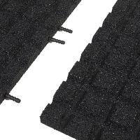 Černá gumová krajová dlaždice (V30/R15) - délka 50 cm, šířka 25 cm a výška 3 cm
