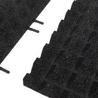 Černá gumová krajová dlaždice (V40/R28) - délka 50 cm, šířka 25 cm a výška 4 cm
