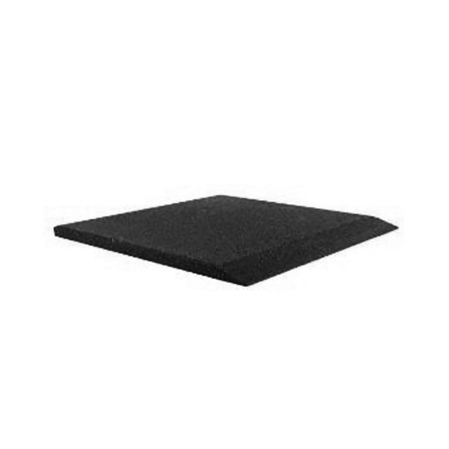 Černá gumová krajová dlaždice (V50/R00) - délka 50 cm, šířka 50 cm a výška 5 cm FLOMAT