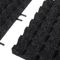 Černá gumová krajová dlaždice (V50/R28) - délka 50 cm, šířka 25 cm a výška 5 cm