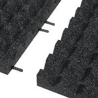 Černá gumová krajová dlaždice (V55/R28) - délka 50 cm, šířka 25 cm a výška 5,5 cm