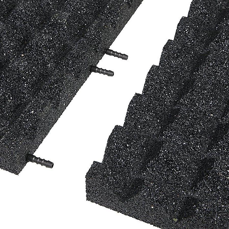 Černá gumová krajová dlaždice (V55/R28) - délka 50 cm, šířka 25 cm a výška 5,5 cm FLOMAT