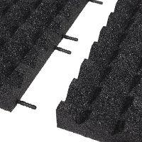 Černá gumová krajová dlaždice (V65/R28) - délka 50 cm, šířka 25 cm a výška 6,5 cm