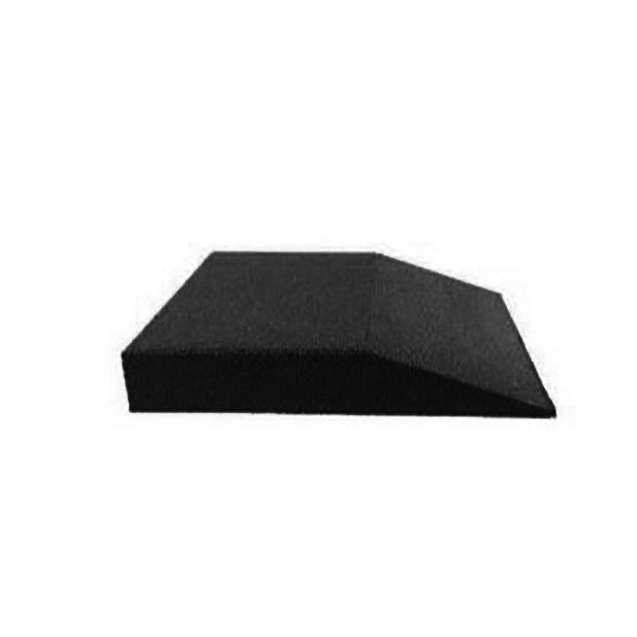 Černá gumová krajová dlaždice (V90/R00) - délka 50 cm, šířka 50 cm a výška 9 cm FLOMAT