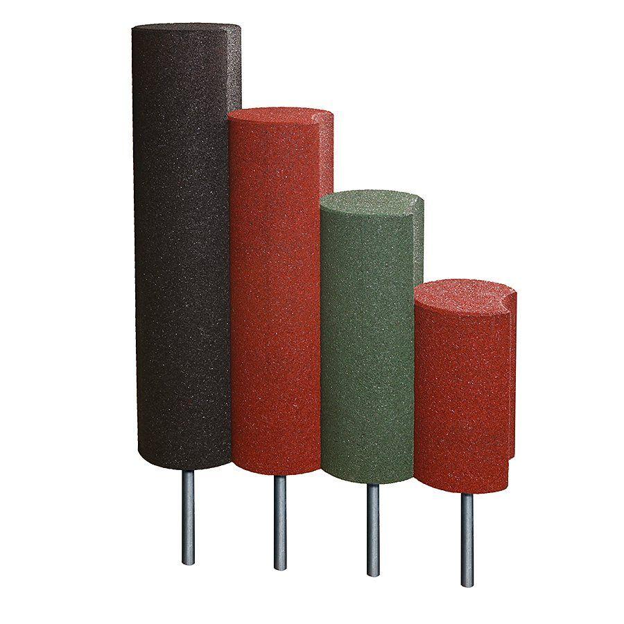 Černá gumová palisáda - průměr 25 cm a výška 100 cm FLOMAT