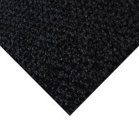 Černá kobercová vnitřní čistící zóna Alanis - 50 x 100 x 0,75 cm