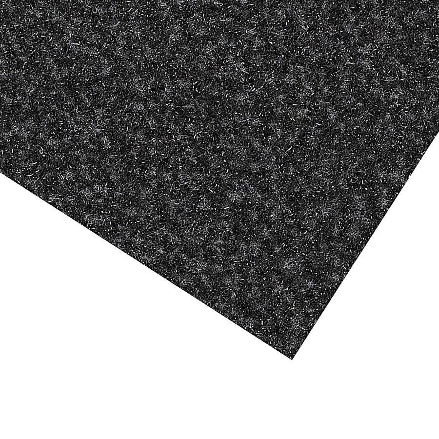 Černá kobercová vnitřní čistící zóna Valeria, FLOMAT (Bfl-S1) - délka 100 cm, šířka 100 cm a výška 0,9 cm