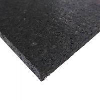 Černá pryžová deska SF1100 - délka 198 cm, šířka 98 cm a výška 2 cm