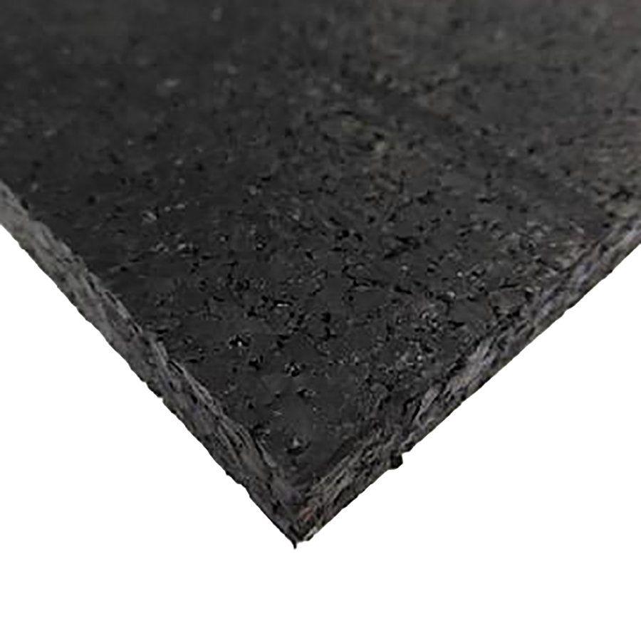 Černá pryžová fitness deska SF1050 - délka 198 cm, šířka 98 cm a výška 1 cm FLOMAT