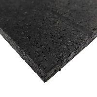 Černá pryžová fitness deska SF1050 - délka 198 cm, šířka 98 cm a výška 0,8 cm