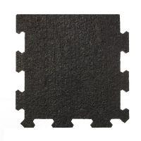 Černá pryžová modulární fitness deska (okraj) SF1050 - délka 95,6 cm, šířka 95,6 cm a výška 1,6 cm