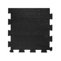 Černá pryžová modulární fitness deska (okraj) SF1050 - délka 47,8 cm, šířka 47,8 cm a výška 0,8 cm
