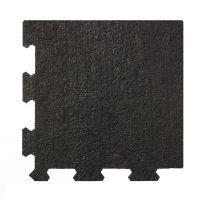Černá pryžová modulární fitness deska (roh) SF1050 - délka 95,6 cm, šířka 95,6 cm a výška 1 cm