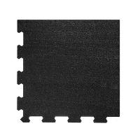 Černá pryžová modulární fitness deska (roh) SF1050 - délka 47,8 cm, šířka 47,8 cm a výška 1 cm