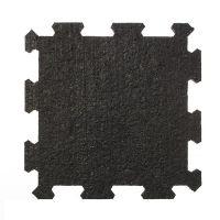 Černá pryžová modulární fitness deska (střed) SF1050 - délka 95,6 cm, šířka 95,6 cm a výška 1 cm