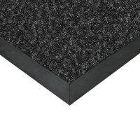 Černá textilní vstupní vnitřní čistící rohož Valeria, FLOMAT (Bfl-S1) - délka 60 cm, šířka 80 cm a výška 0,9 cm