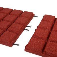 Červená gumová dlaždice (V50/R25BIG) - délka 50 cm, šířka 50 cm a výška 5 cm