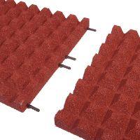 Červená gumová dlaždice (V50/R28) - délka 50 cm, šířka 50 cm a výška 5 cm
