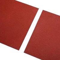 Červená gumová hladká dlaždice - délka 100 cm, šířka 100 cm a výška 1,1 cm