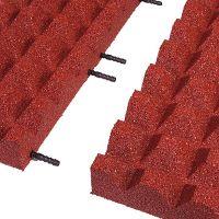 Červená gumová krajová dlaždice (V65/R28) - délka 50 cm, šířka 25 cm a výška 6,5 cm