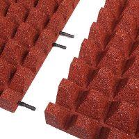 Červená gumová krajová dlaždice (V65/R50) - délka 50 cm, šířka 25 cm a výška 6,5 cm