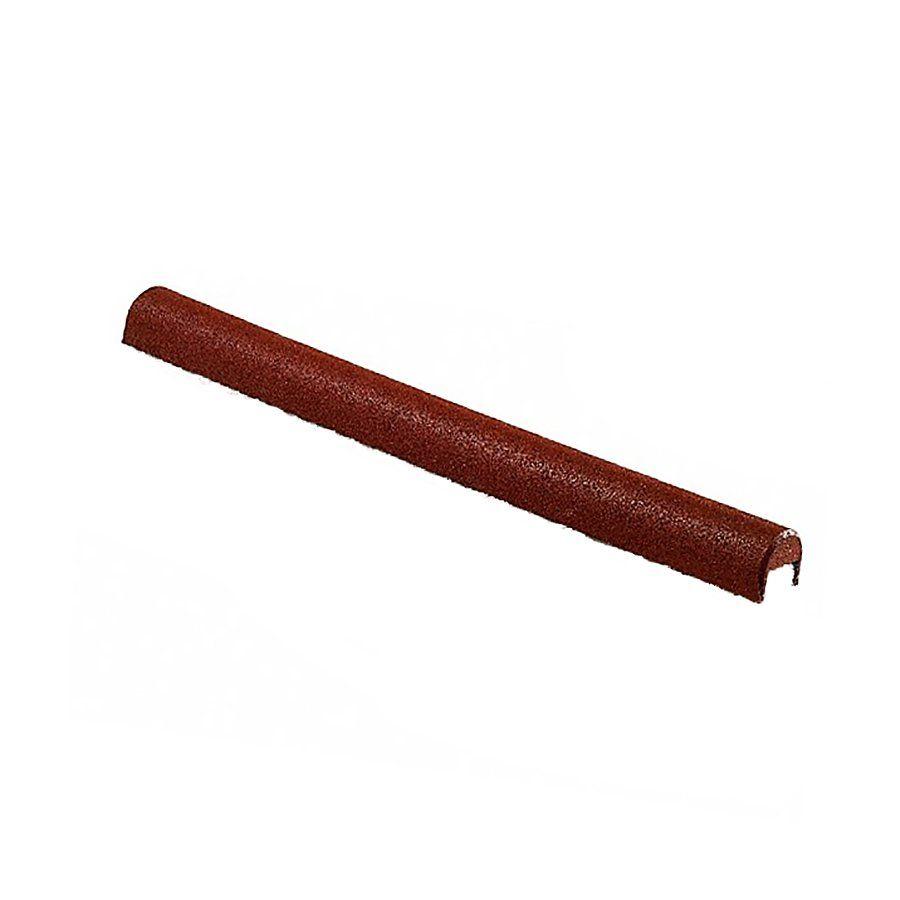 Červený gumový kryt obrubníku - délka 100 cm, šířka 10 cm a výška 10 cm FLOMAT