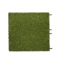 Gumová dlaždice s umělou trávou (V30/R15) - délka 50 cm, šířka 50 cm a výška 3 cm