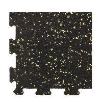Různobarevná pryžová (10% EPDM PREMIUM) modulární fitness deska (roh) SF1050 - délka 95,6 cm, šířka 95,6 cm a výška 1,6 cm