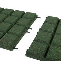 Zelená gumová dlaždice (V50/R25BIG) - délka 50 cm, šířka 50 cm a výška 5 cm